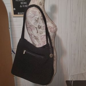 The Sak Classic Crochet black shoulder bag  new